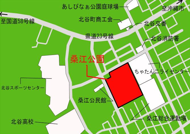 桑江公園 公園施設配置図