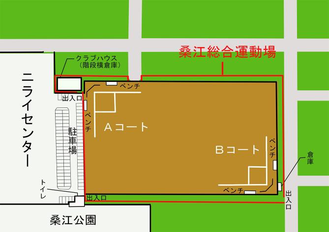 桑江総合運動場 施設配置図