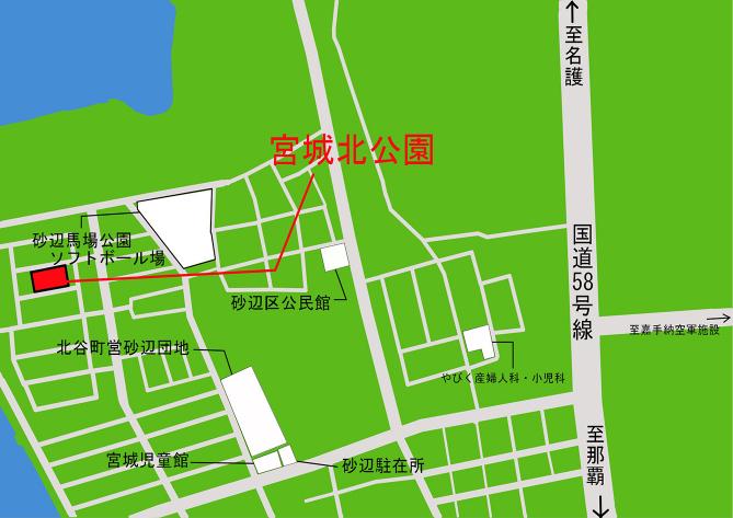 宮城北公園 公園施設配置図