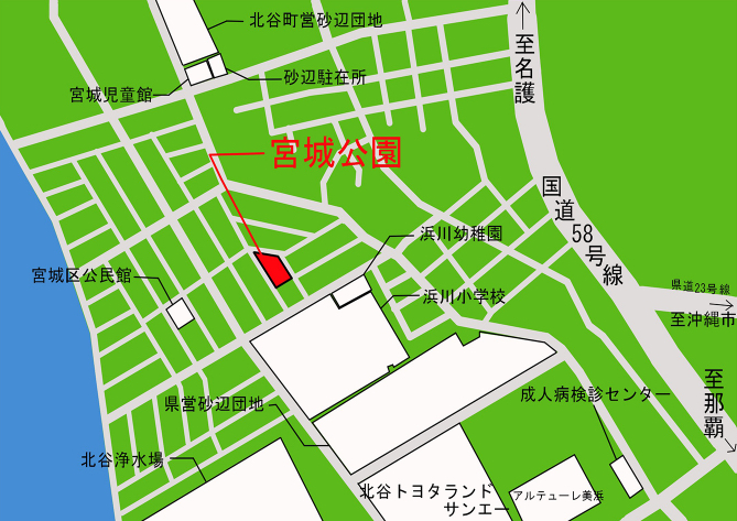 宮城公園 公園施設配置図