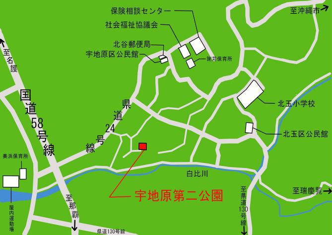 宇地原第二公園 公園施設配置図